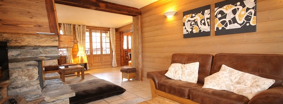Meribel ski chalet lounge